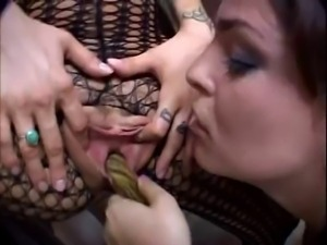 Pregnant Belladonna in lesbian action
