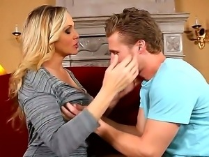 Milf bombshell Julia Ann professionally seduces handsome boyfriend Michael Vegas