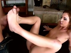 Sexy girl Maddy OReilly loves foot massage and proves it in this amazing action