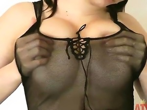 Enjoy gorgeous brunette sweet honey Blanka and her big juicy boobs and hairy...