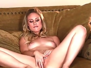 Have a look of delicious glamourous blonde chick Charlee Monroe teasing her...