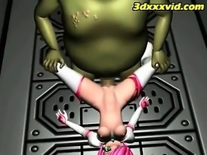 3D-Teen Natural Slave! -  Escape - Monsters Fuck