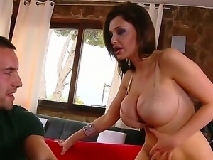 Wanna watch sinful brunette bitch with cool boobs Aletta Ocean getting all of...