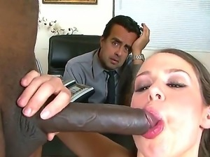 Ava Devine sucking big dick of Julius Ceazher right in front of her boyfriend...