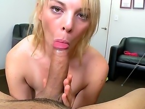 Busty blonde girl Missy Mathers is doing a got blowjob to her beloved husband