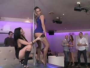 Aleska Diamond and Aletta Ocean got their holes stuffed with dicks after...