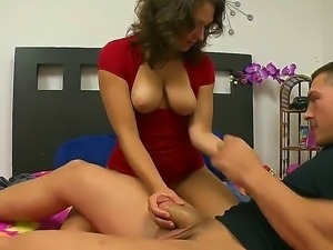 Precious curly and hot assed horny babe Roxy Love pleasing her fucker...