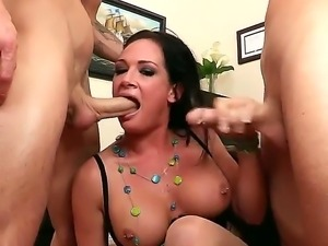 Amazing office threesome action with smoking hot Tory Lane and her co-workers