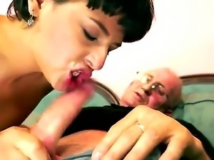 Short haired brunette Coco de Mal has a sexy boyfriend but she still prefers...