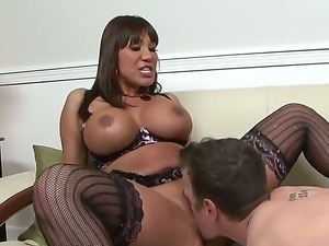 The fantastic whore Ava Devine sucks the young dick to Chad Diamond, then he...