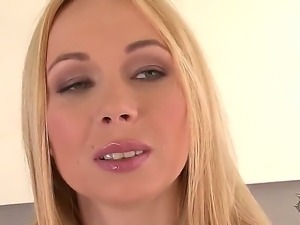 Gorgeous blonde Lina Napoli takes off her sexy clothes and shows her sexy body