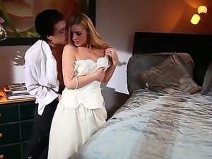 Hot blonde Lexi Belle enjoys fucking with unfamiliar guy with big cock