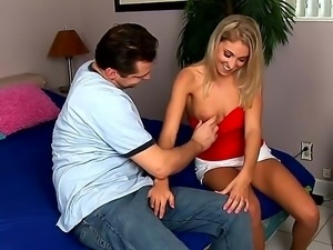 John Strange seduces by his mothers young blonde friend chick Sunni Mayweather
