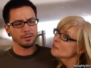 His friend's mom Nina Hartley is a sex obsessed blonde