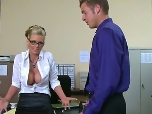 Office secretary with an amazing body Phoenix Marie gets fucked by her boss...