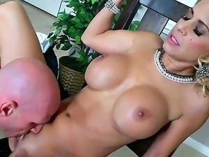 Nasty milf with a big boobs Alyssa Lynn gets Johnny Sins cock in the sweet hole