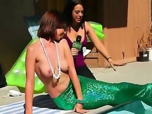 Four pair of sweet boobs in the boobs, Naked Mermaid magic, Jmac and Roxanne...