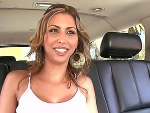 Carina Devoe gets on a sexy car ride along horny stud and pleases him with...