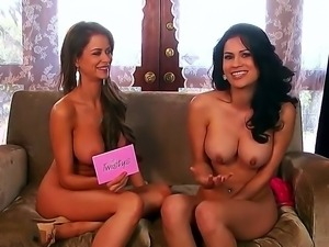 Busty Emily Addison gets really seduced by hot babe while having an interview