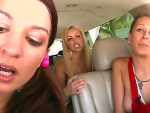 Threesome lesbian action with Ann Marie Rios,Breanne Benson and Nikki Brooks