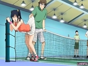 Horny hentai schoolgirl gets toyed in gym class
