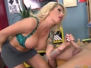 Big boobed blonde milf teacher Brooke Haven does her work