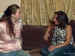 Michelle Lay and Satine Phoenix are curious about having lesbian