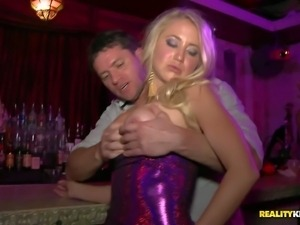 Nikki Delano and Casi James are drunk and horny enough