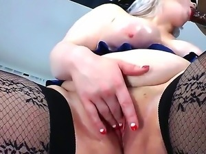 Amazing interracial scene with white busty blonde Klaudia Kelly and Sean...