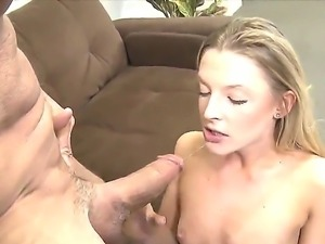 Deep throat blowjob by the adorable blonde Tristyn Kennedy, who likes to...