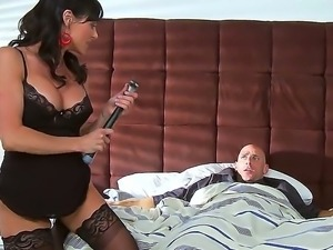 Johnny Sins has so much fun when luscious cutie in black stockings Kendra...