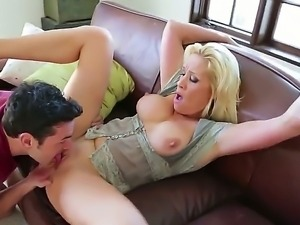 Jessie Cash gets her mature tight pussy smashed by hunk Ryan Driller and his...