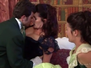 Magdalene St Michaels, Elexis Monroe and James Deen are lover