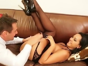 Hardcore scene with naughty brunette Laly and Tristan Seagal in their office