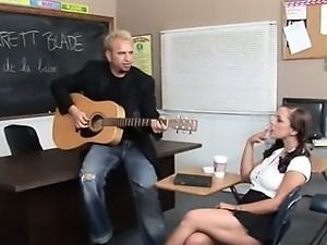 music teacher fucks with busty 20yo girl