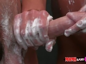 White haired milf Diana Doll with sexy body is happy