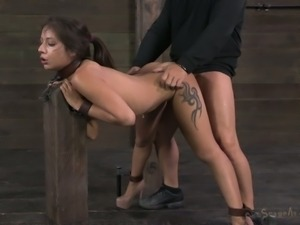 Sexy brunettes get fucked in the dungeon