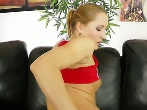 Busty Gloria Miller is rubbing her delightful clits sensually as stud drills...