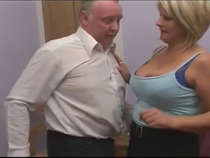 A blonde MILF jumps about on a bed with two guys. It doesn't take itself too...