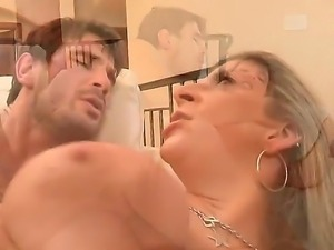 SLutty blonde bitch Sara gets her tight orgasmic cunt massively pounded by a...