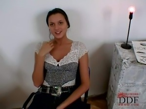 Davina is another sweet casting girl She's a young chick