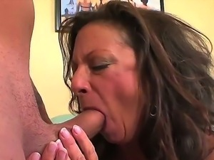 Margo Sullivan was masturbating hard her lonely pussy when young boy with...
