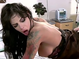 Angelina Valentine with gigantic breasts and her hard dicked fuck buddy Criss...