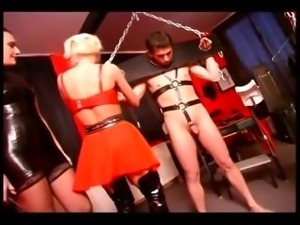 Domina makes her slaves bang each other