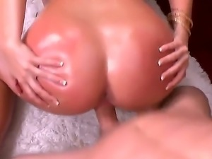 Hot blonde Simpsons oils up for a deepthroat and a hard fuck in her tight wet...