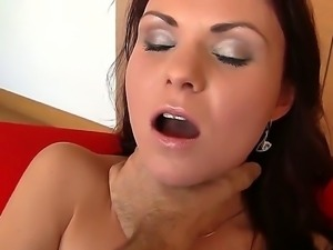 Rocco Siffredi keeps wanking his cock and recording Tyna B while she plays...