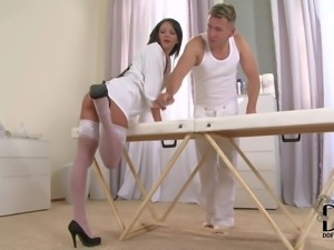 www.PornSharing.com erotic video : Smoking hot black haired babe with tight...