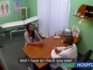 FakeHospital Teen girl not on birth control bends over for doctors creampie