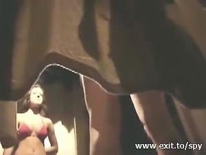 Spying beautiful nude girl in fitting room