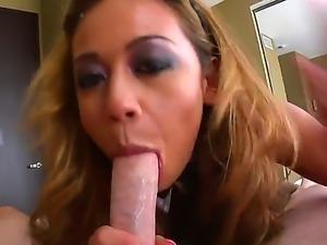 Smoking hot asian bombshell Mia Lelani with dark heavy make up and big round...